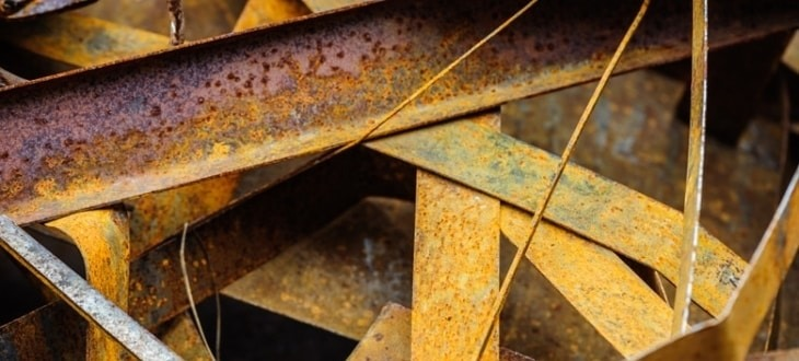 What metals rust do iron copper tampa steel