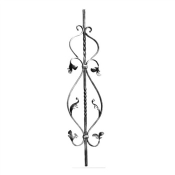 Decorative Stair Rail with Leaves Snap-On