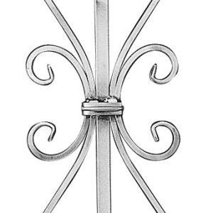 "ALUMINUM DESIGN PICKET W/SCROLL & TWIST 39-1/2"" LENGTH"