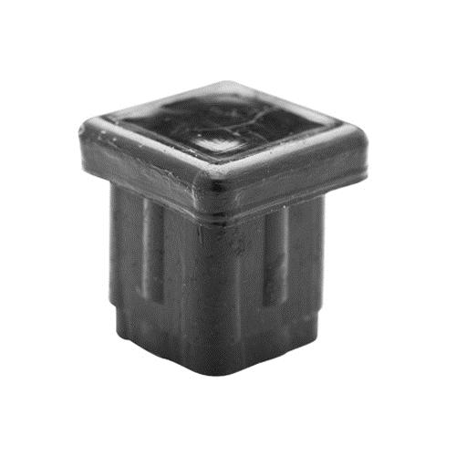 "BLACK PLASTIC TUBING PLUG 1/2"" SQUARE"
