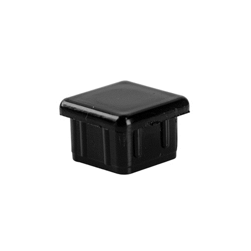 BLACK PLASTIC TUBING END CAP 3/4""