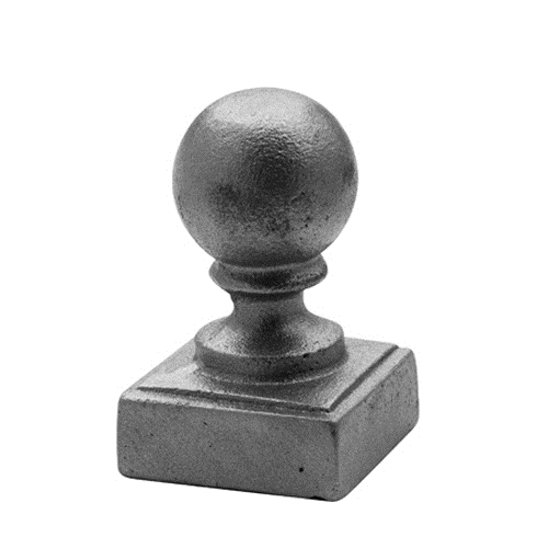 "CAST IRON POST BALL CAP 2"" SQUARE"