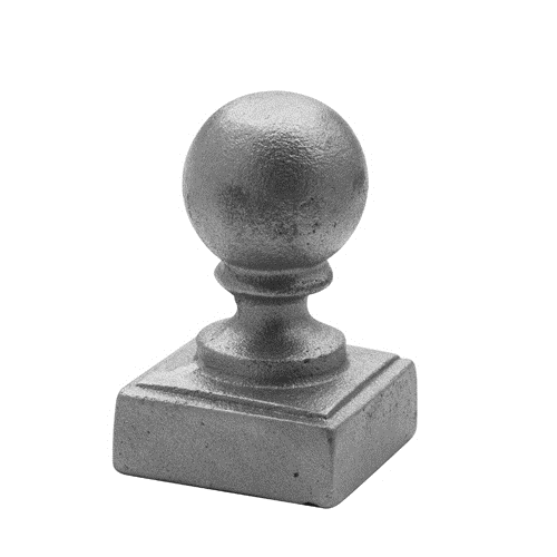"CAST IRON POST BALL 3"" SQUARE"