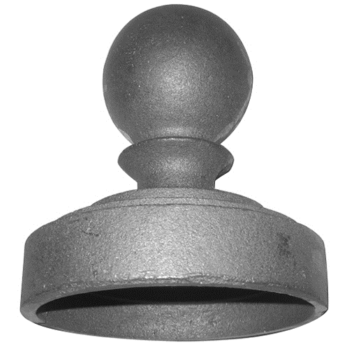 "CAST IRON POST CAP FITS 4"" PIPE"