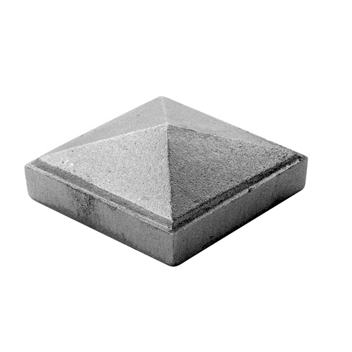 "CAST IRON PYRAMID POST CAP 2-1/2"" SQUARE"